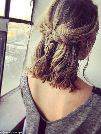 Adding a braid to your long bob hairstyles is really cute!