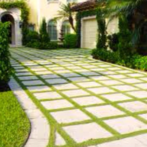 Middle Design And Concrete Pavers On Pinterest