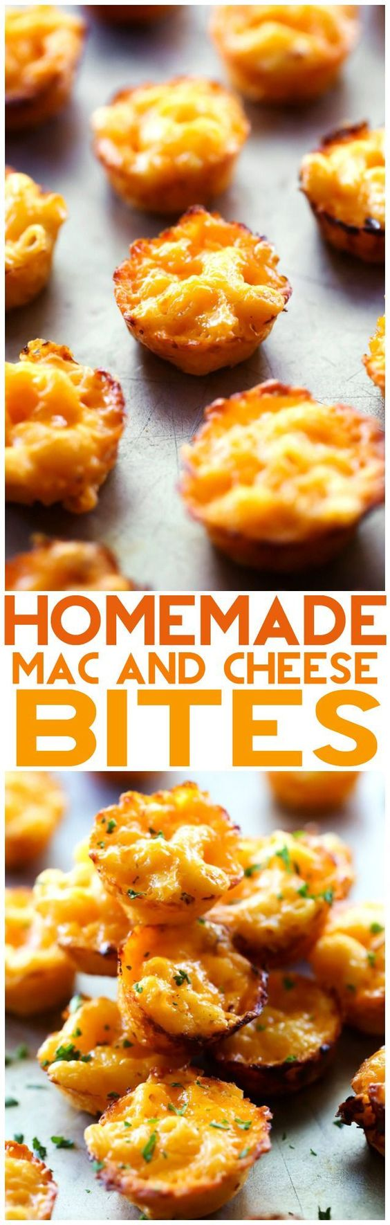 Homemade Mac and Cheese Bites... These are so simple and the perfect finger food ideal for serving kids and as an appetizer! These are DELICIOUS! via Chef in Training