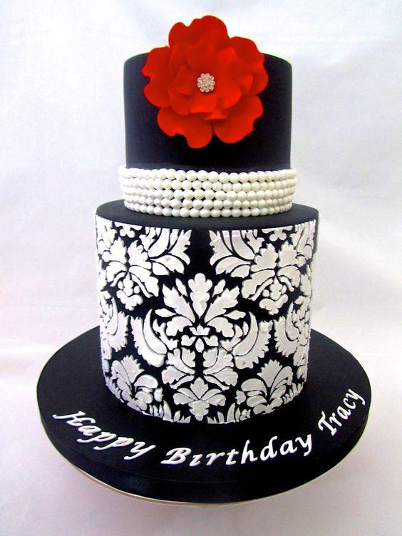 Elegant Birthday Cake Sweet Surprise Cakes Pascoe Vale