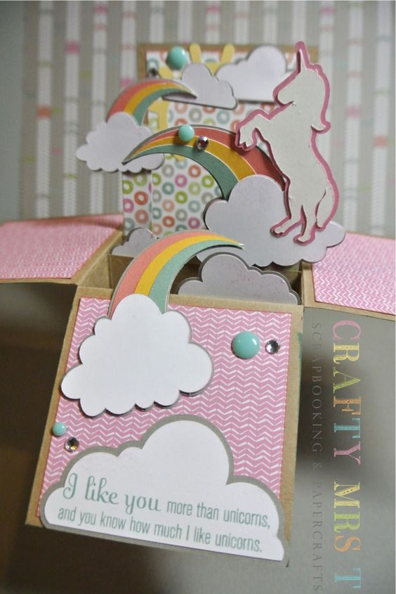 Unicorn Dreams Pop Up Box Card Close To My Heart Cards