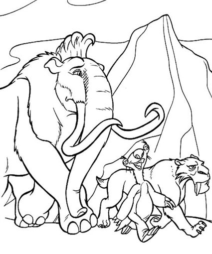 ice age coloring pages and coloring on pinterest