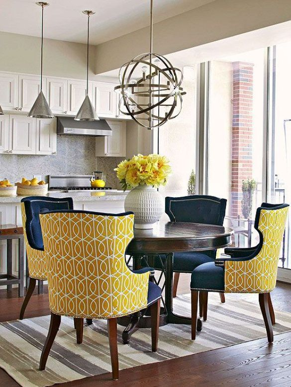 Fantastic color combination for these dining chairs! Fresh, fun and sophisticated! www.decorrevamp.com: