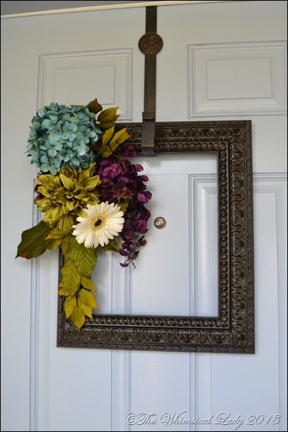 empty frame with flowers