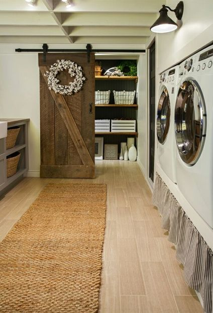 Beautiful Rustic Farmhouse Laundry Room Makeover ! By Jenna Sue Design: