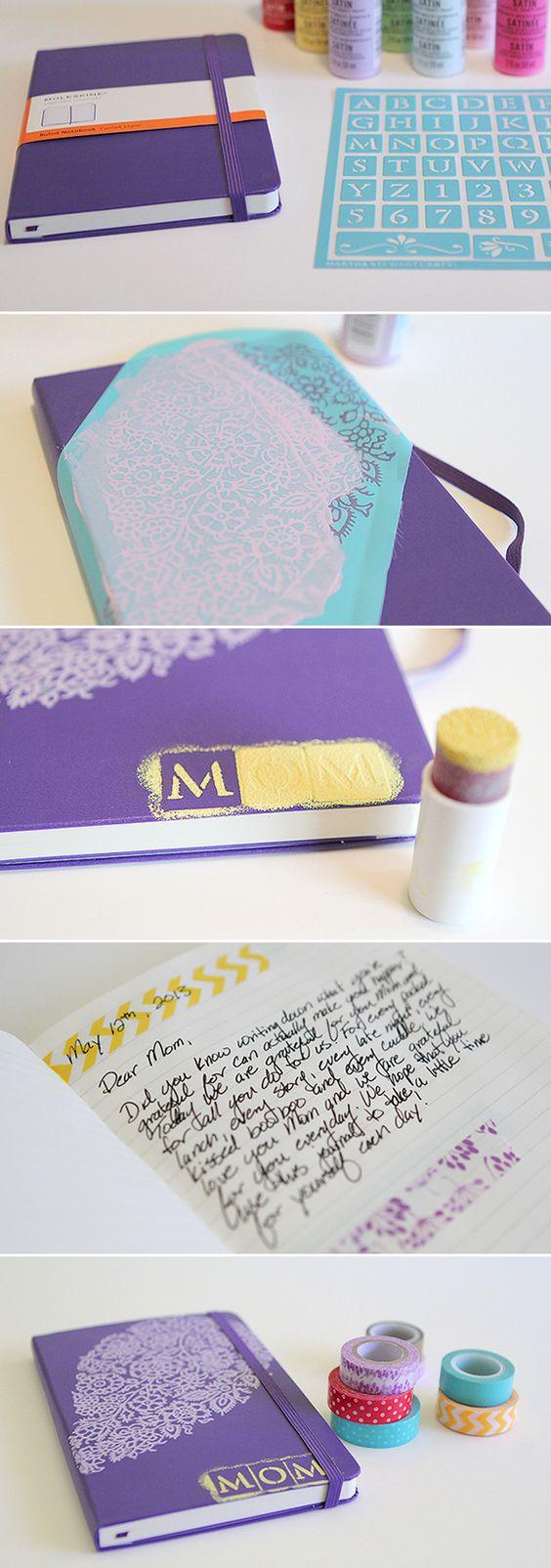 Mother's Day DIY Gratitude Journal Journal entries