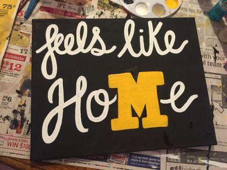 Mizzou / University of Missouri DIY canvas; feels like home: