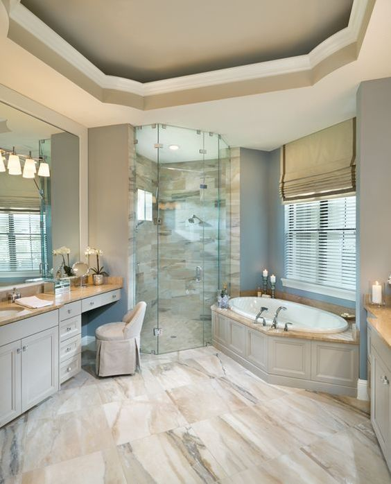 Rutenberg - Melbourne Luxury Designer Home - Bathroom - glass walk in shower - amazing floor tile By Arthur Rutenberg Homes: