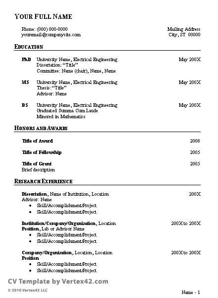 resume templates in pdf format template