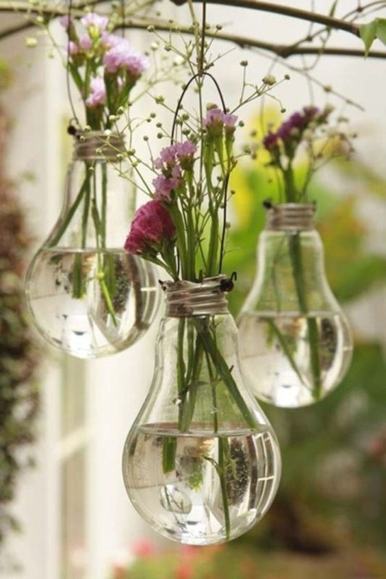 Upcycling Projects: Light Bulbs | 43 Things to Never Throw Away by DIY Ready at http://diyready.com/43-things-to-never-throw-away/: