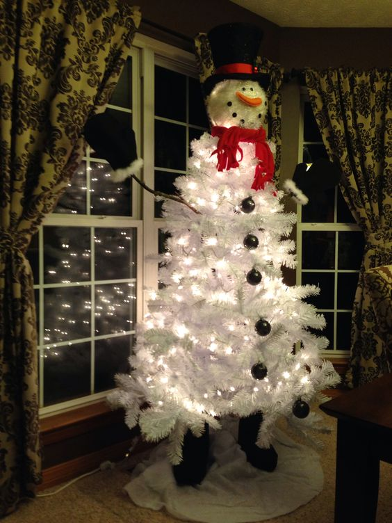 Snowman Tree Topper Snowman Tree And Christmas Snowman On