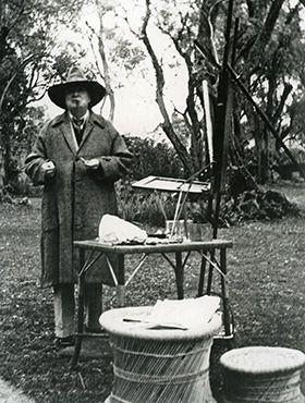 Winston Churchill painting at Villa La Pausa:
