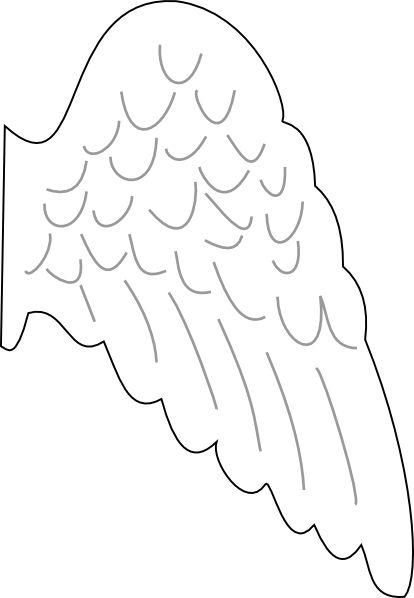 5143b9e1c Free Muse Template. template angel wing clip art vector clip art ...