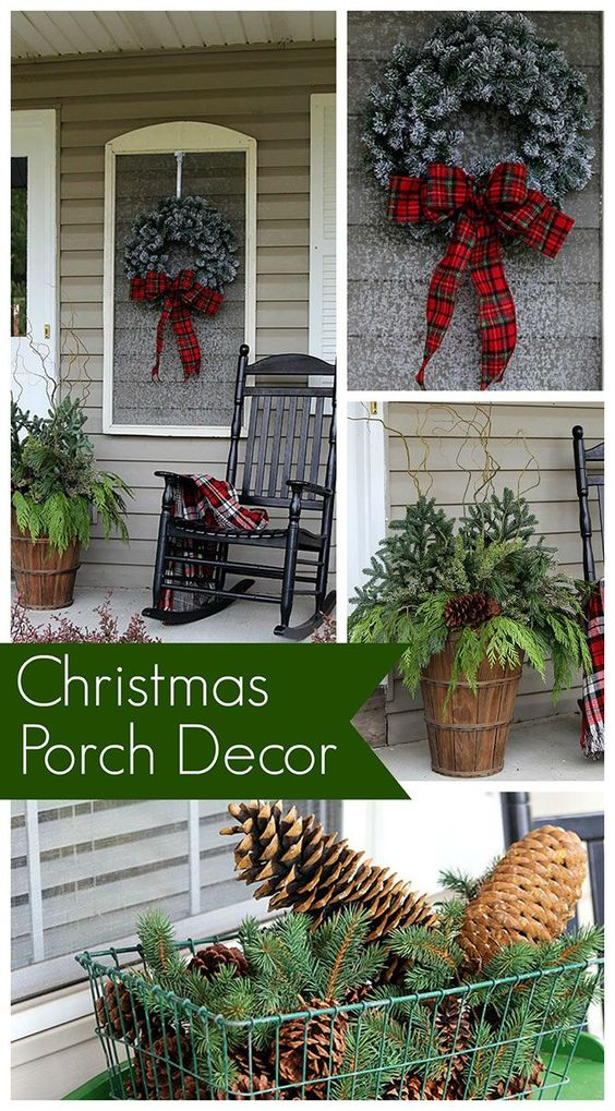 Christmas Porch Decorations The old, Window screens and