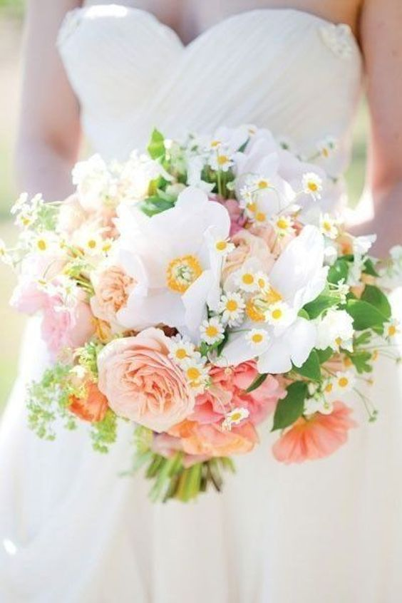 Whimsical Summer Daisy Bouquet by Frog Prince Weddings & Events: