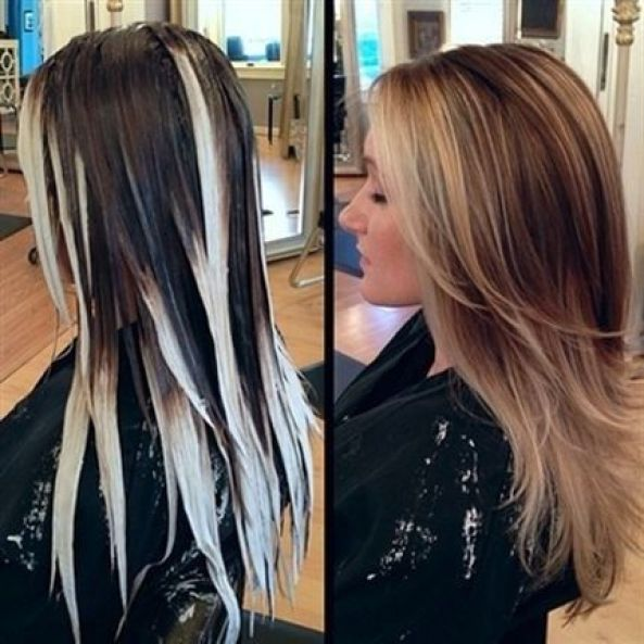 Stylish Hair Color for Long Hair: