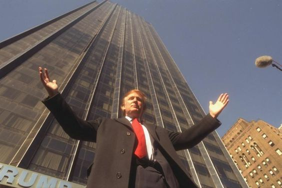Donald Trump and his building Trump Tower