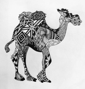 zentangle camel and coloring pages on pinterest