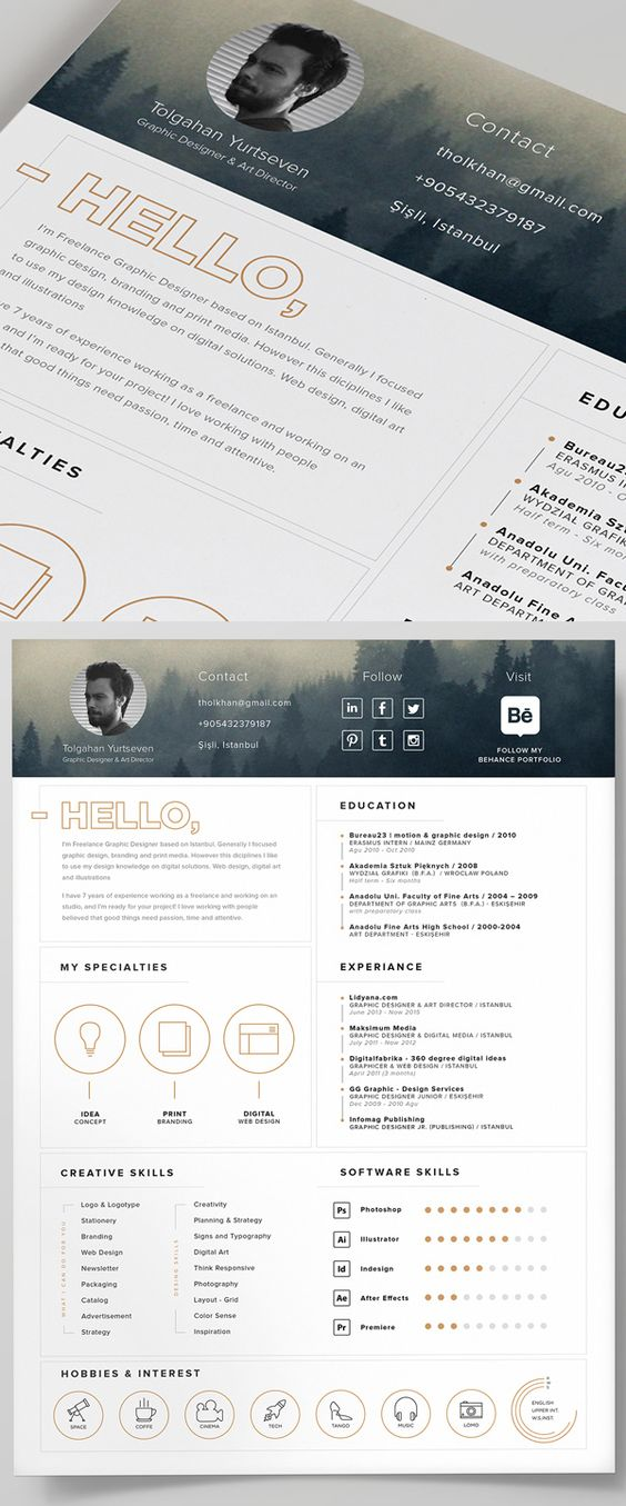 Free Resume Template and Icons (PSD) Curriculum Vitae
