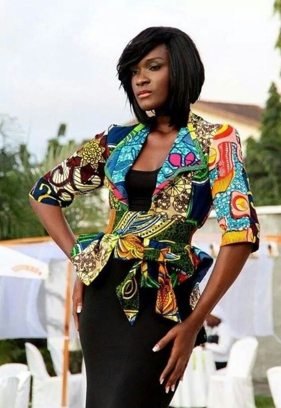 Image result for ankara jackets style for women