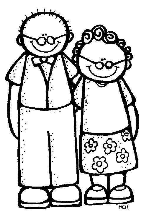 grandparents clip art and black and white on pinterest