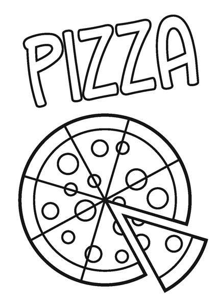 coloring pages pizza and coloring on pinterest