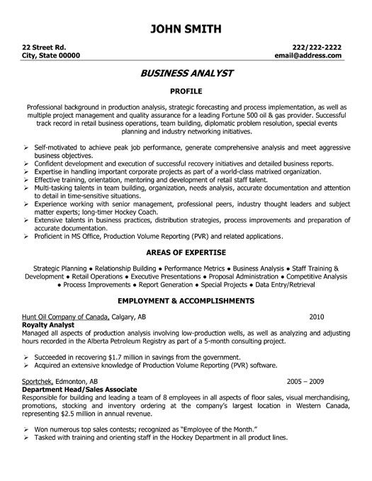 business analyst resume and resume templates on pinterest