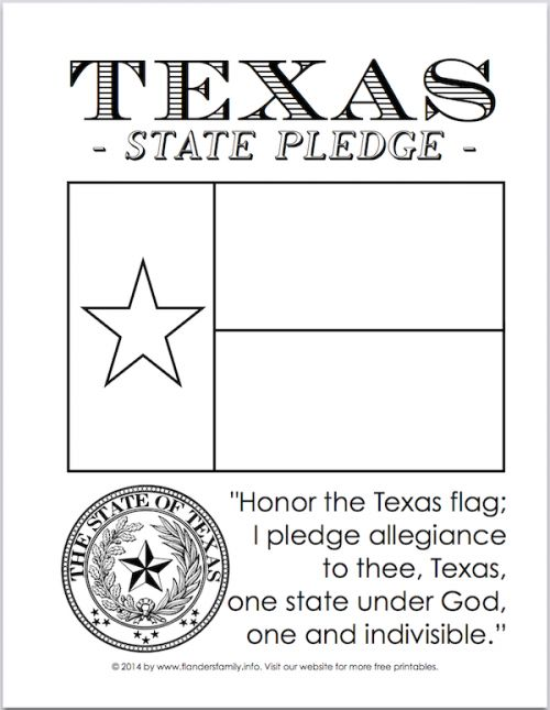 pledge of allegiance texas flags and printables on pinterest