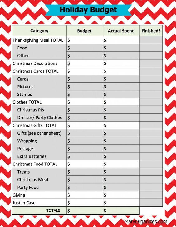 FREE printable - Holiday Budget sheet. SO neat!! Great idea!: