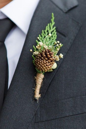 35 Pinecones Wedding Ideas for Your Winter Wedding: