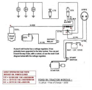 Ford Tractor 12 Volt Conversion Free Wiring Diagrams 9N 2N