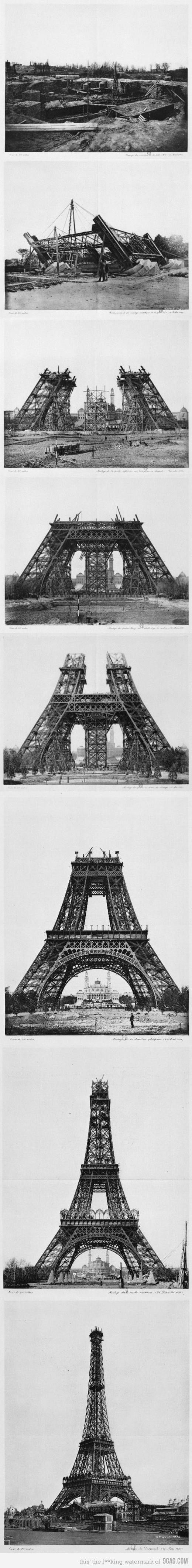 Construction of the Eiffel Tower | Rare Pictures: