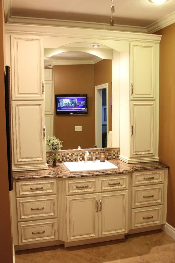 Bath Steps Vanities And Cabinets On Pinterest
