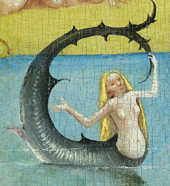 ♒ Mermaids Among Us ♒ art photography & paintings of sea sirens & water maidens -Hieronymus Bosch | detail from The Garden of Earthly Delights: