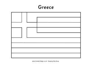 greek flag colouring page athena the argosy pinterest greek flag