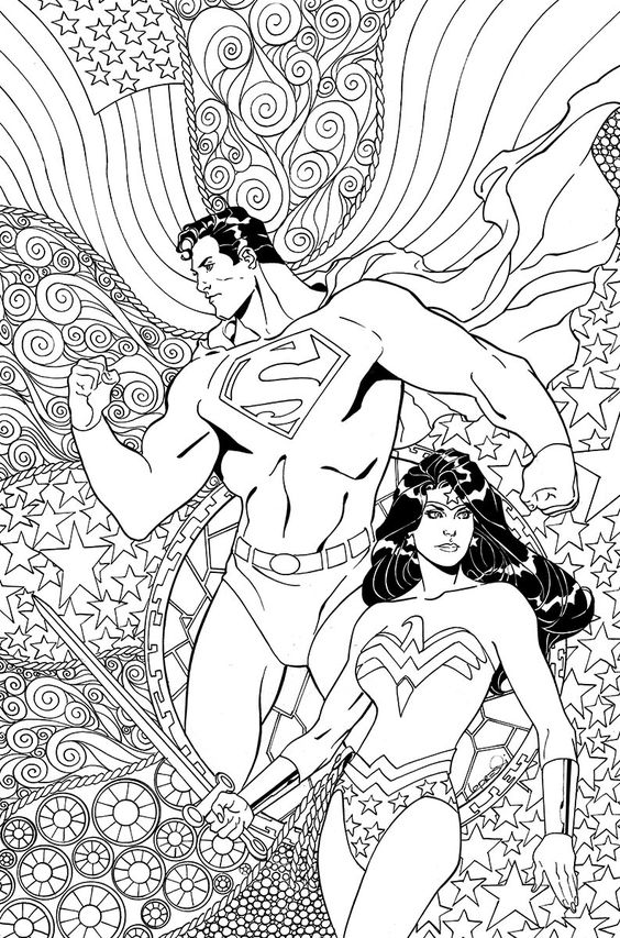 coloring comic covers and adult coloring on pinterest