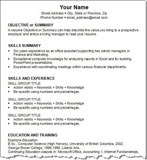resume resume templates and professional resume on pinterest