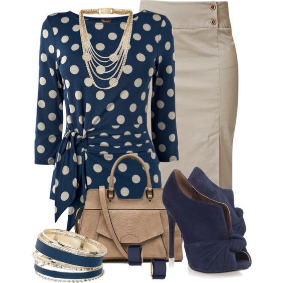 Polka Dot Blouse, created by justbeccuz on Polyvore: