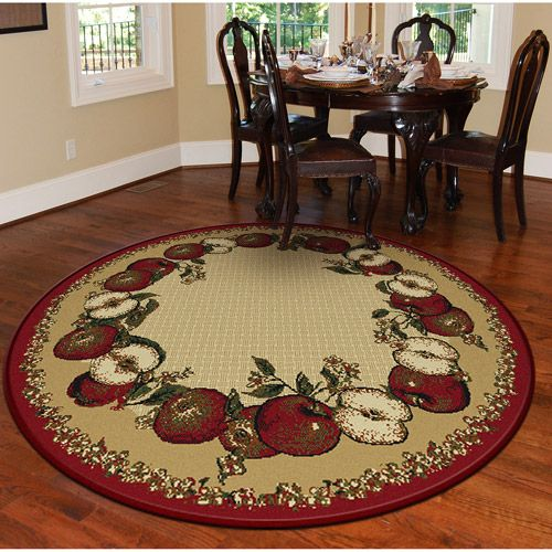 Orian Apple Border Round 63 Rug Sand House And Home