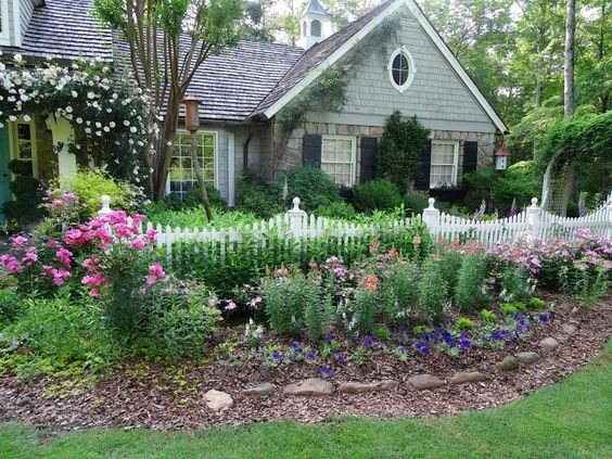 White Fence, Picket Fences And Perennials On Pinterest