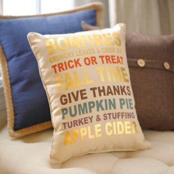 Kirklands Fall Favorites Accent Pillow