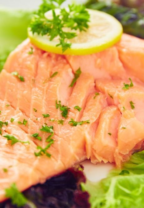 Sous vide moist, tender and perfectly cooked salmon