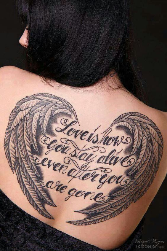 Angel wings tattoo, BEAUTIFUL
