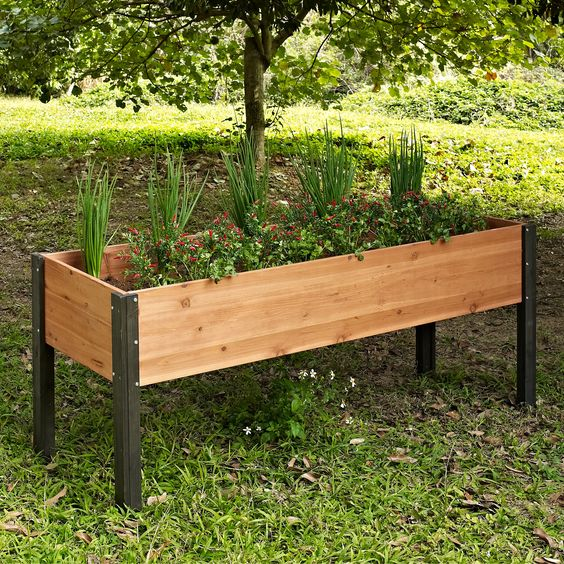 Coral Coast Bloomfield Wood Raised Garden Bed 70L x 24D