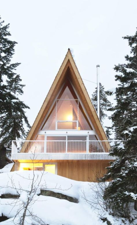 An A-Frame Cabin for a Snowboarding Family in Whistler: