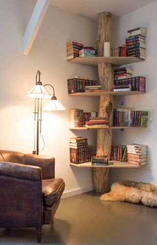 Corner Book Tree. I Would Have The Shelves Full!: