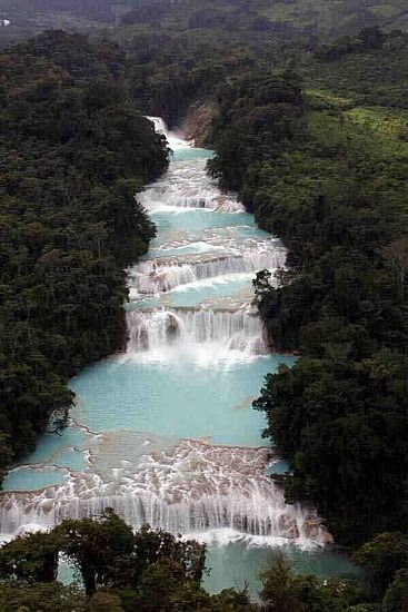 Blue Water Waterfalls, Mexico: