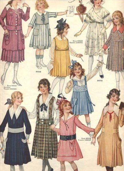 Girls Dresses Butterick Spring 1918: