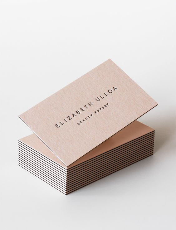 Brown simple modern business cards