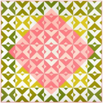 Diamond Tiles designed by Robert Kaufman Fabrics. Features the 2017 Kona Color of the Year. FREE pattern will be available for download in January 2017 from robertkaufman.com #FREEatrobertkaufmandotcom #konacotton #konacoty: